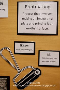 Adventures of an Art Teacher: Dia de los Muertos Prints Printmaking display