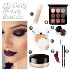 """My Daily Beauty Routine"" by arrowette-854 ❤ liked on Polyvore featuring beauty, Puma, Clinique, MAC Cosmetics, Sensai, Lancôme, NYX, By Terry and Yves Saint Laurent"