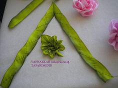 kurdeleden çiçek yapımı modelleri