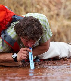 lifestraw Water filtration system...fresh water anywhere you are. How cool is this?