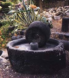 An olive press from Capernaum, date unknown.