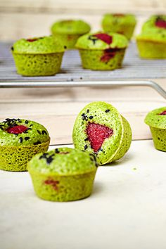 Spoil yourself with a dozen Raspberry Matcha Green Tea Muffins by following this simple baking recipe.