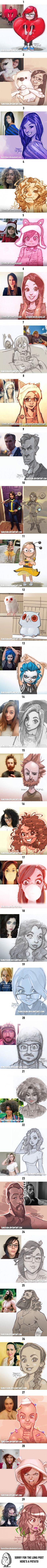 Artist Robert DeJesus Turns Strangers Into Anime Characters - 9GAG