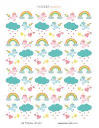 12  free unicorn printables - Einhorn - round-up | MeinLilaPark