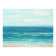 Large Ocean Art Abstract Painting Beach Decor 30x40 Acrylic Painting Coastal Decor by Nacene Prchal
