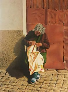 Knitting Wall Art - Painting - Knitting In The Sun by Richard Ginnett Sun Painting, Scandinavian Pattern, Knit Art, Australia Map, Knitting Supplies, Christmas Mom, Art Pages, Big Eyes, Fine Art America