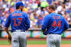 Chicago Cubs first baseman Anthony Rizzo and Chicago Cubs third baseman Kris Bryant during the game between the New York Mets and the Chicago Cubs. Basketball Court Layout, Basketball Game Tickets, High Top Basketball Shoes, Buy Basketball, Chicago Cubs Baseball, Tigers Baseball, Chicago Cubs History, Cubs Players, Cubs Win