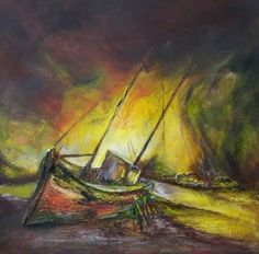 """Saatchi Art is pleased to offer the painting, """"Beauty of shipwreck,"""" by Miroslav Vajda. Original Painting: Acrylic on Canvas. Shipwreck, Saatchi Art, Original Paintings, Canvas, Artist, Beauty, Tela, Artists, Canvases"""