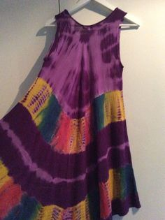 1 Kleid aus Indien Nepal Hippie Goa  Einzelstueck handgemacht Batik Nr.5