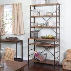 Belham Living Townsend Bakers Rack - This in my kitchen instead of the stack of random furniture holding recycling, cat food, microwave, coffee maker, and toaster oven.