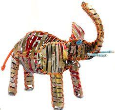 Handmade Soda Can Elephant @tabletopwebshop.com