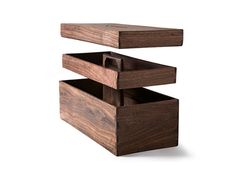 Reclaimed Tropical Walnut Tool Box — ACCESSORIES -- Better Living Through Design
