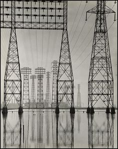 thegetty: Just like the Los Angeles landscape, the special exhibitionspavilionrapidly changes. The last day to see Overdrive: L.A. Constructs the Future 1940-1990 is this Sunday, July 21. Electrical Transmission Towers, about 1935, Will Connell. Gelatin silver print. Stephen White, Collection II,©Will Connell.