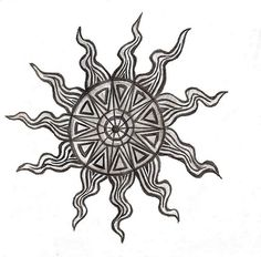 aztec sun tattoo 179