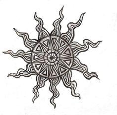 aztec sun tattoo 179