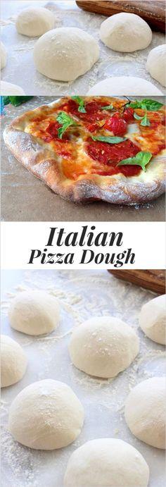 Rustic Italian Pizza Dough Recipe, Thin, Crispy and Chewy | http://CiaoFlorentina.com @CiaoFlorentina