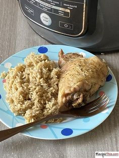 Ninja Foodi Chicken & Rice. Delicious Mediterranean style chicken and rice cooked together in the Ninja Foodi. Using brown rice and chicken thighs, you will love the simplicity of this pressure cooker chicken thighs and rice recipe. You get the best of both worlds with this chicken and rice recipe. The bone in, skin on chicken thighs is crispy thanks to the Ninja air fryer and moist thanks to the Ninja pressure cooker. I am proud to have lived in Portugal for 12 years (almost 13) and what I…