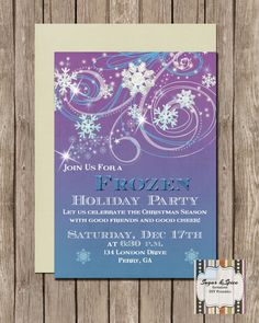 Frozen Holiday Invitation Christmas Party by SugSpcInvitations