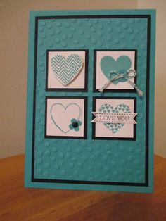 Hearts a flutter stamps and framlits