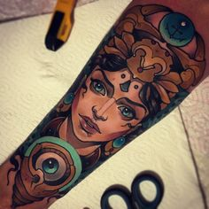 Nautical Woman Tattoo by Vitaly Morozov