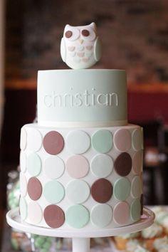 hello naomi: a very cuoooot owl christening cake! Hello Naomi, Baby Shower Cakes, Baby Cakes, Cupcakes, Cupcake Cakes, Cupcake Ideas, Pretty Cakes, Beautiful Cakes, Ideas Bautizo