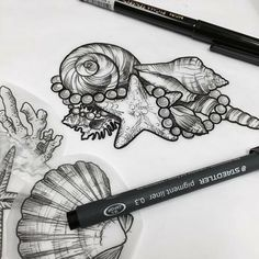 Tottoo Muschel - Tottoo Muschel - My most beautiful tattoo list Love Tattoos, Beautiful Tattoos, Body Art Tattoos, Tattoo Drawings, Tattoos For Women, Seashell Tattoos, Mermaid Tattoos, Ocean Tattoos, Tattoo Designs