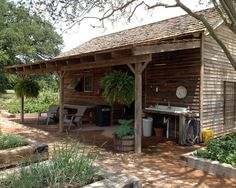 Rustic Sheds with Porch | ... Porch Design Using Rustic Furniture Gilchrist Home Potting Shed Image
