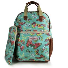 NEW BUTTERFLY GREEN RUCKSACK BACKPACK WITH IPAD CASE COLLEGE SCHOOL BAGS – GIFTS