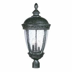 Lowes $278 Acclaim Lighting Fleur De Lis 28-in H Stone Post Light