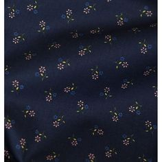 Tissu coton petites fleurs marine - Poppy x 10 cm Couture, Little Flowers, Haute Couture