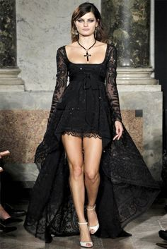 I think that a high-low dress in a gender-neutral color could look really good on a male lead.                                   --- Emilio Pucci Spring 2012: All black everything! Omg dream dress!