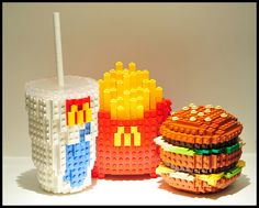 "Lego Art ~ Schfio Factory (Schneider Cheung), ""Lego Big Mac Meal"""