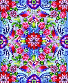 Mandala Roses by Catalina Estrada