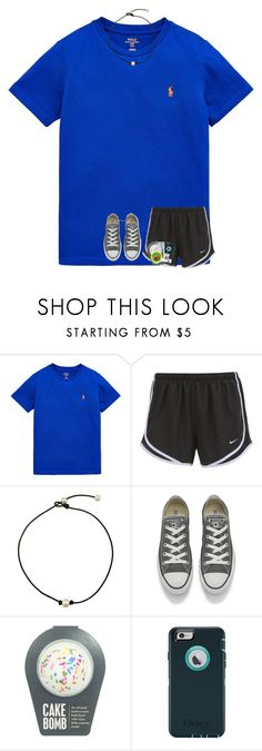 """ootd!"" by preppy-southerngirl ❤ liked on Polyvore featuring Ralph Lauren, NIKE, Converse and OtterBox"