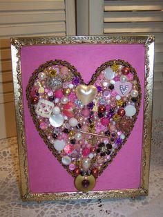 Jewelry Art Valentine Heart in Frame