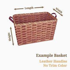 Amish Handmade Custom Basket - Rectangle Shape