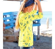 Volánová blúzka s potlačou kvetín | blancheporte.sk #blancheporte #blancheporteSK #blancheporte_sk #novákolekcia #jar #leto Blouse Volantée, Blouse Fleurie, Cover Up, Shoulder Dress, Dresses With Sleeves, Spring, Long Sleeve, Style, Fashion