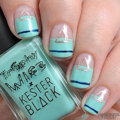 Guest Post by The Procrastinating Polishr Mani Pedi, Manicure, Negative Space Nails, How To Do Nails, Nail Polish, Nail Art, Treats, Mint, Beauty