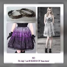 ISO....IN SEARCH OF....ARE U SELLING ANY OF THESE? I'M IN SEARCH OF NEW OR USED!  Lucky Brand Feather Hoop Earrings,  Restyle (co. brand) Realistic Cemetery Print Skirt & Sexy Ghostly Lace-Up Dress  Both the Skirt & Dress USED to be Sold by Tragic Beautiful but MY Sizes Sold Out Fast.  WAAAAH!  Various Dresses