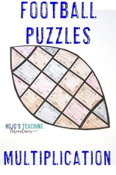 These multiplication football puzzles are a great way to celebrate the NFL season. college bowl games, the big homecoming game at your local school, the Super Bowl, or to use for the football fanatic in your 3rd, 4th, or 5th grade classroom or homeschool. Plus there are great FREE downloads, book ideas, math, reading, social studies, food ideas, and more included at this blog post. Click through now to see how your third, fourth, or fifth grade students can have some football fun. #football Super Bowl Activities, Father's Day Activities, Classroom Activities, Classroom Themes, Multiplication Facts Practice, Maths, 5th Grade Classroom, Football Themes, Home Schooling