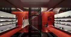 Kurt Geiger store at Regent Street by Found Associates, London store design ....very cool