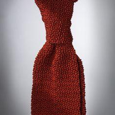 """Cri de la Soie"" Rust-coloured Knit Tie by Peacon, handmade in Germany! #knittie #sprezzatura #menstyle #gentleman"