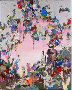 Alicia Paz's Mixed Media Color Explosions.