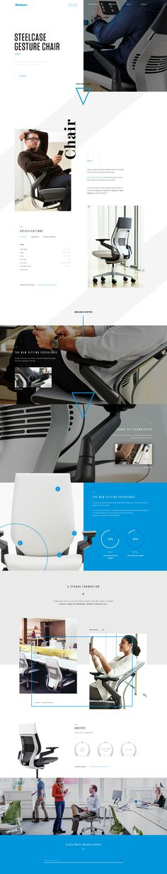 Steelcase Gesture Chair #webdesign #landing #ux #interface