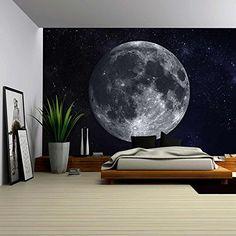 home decor wallpaper Bedroom Bed Design, Home Room Design, Bedroom Colors, Home Decor Bedroom, Bedroom Wall, Amazon Home Decor, Wall Painting Decor, Wall Murals, Canvas Prints