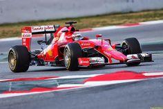 Kimi Raikkonen (FIN) Ferrari SF15-T. 26.02.2015. Formula One Testing, Day One, Barcelona, Spain.