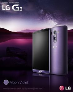LG Moon Violet llega a México Latest Cell Phones, Cheap Cell Phones, Buy Phones, Lg G3, Android, Mobile Banner, Green Web, Smartphone Deals, Mobile Advertising