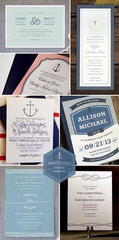 Nautical Connecticut Wedding Nautical wedding invitations