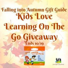 Kids Love Learning On The Go Giveaway ~ Ends 10/19/17 - SaraLee's Deals Steals & Giveaways