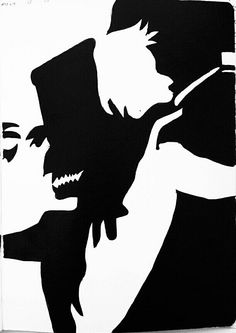 Jekyll and Hyde   black and White   pen drawings